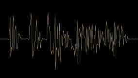 4K音频光谱黄色 库存例证