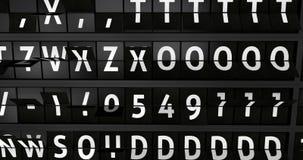 4K,与飞行信息的模式机场广告牌,阿姆斯特丹到来城市  股票视频