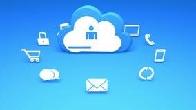 4k,云彩计算的连接概念,互联网概念,联机服务象 向量例证