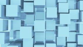 4k,抽象3d白色求动画背景的立方 股票视频