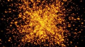 4k αφηρημένη έκρηξη μορίων πυράκτωσης απόθεμα βίντεο
