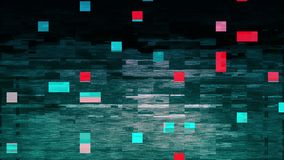 4K τυποποιημένη ζημία λάθους δυσλειτουργίας θορύβου εικονοκυττάρου απόθεμα βίντεο