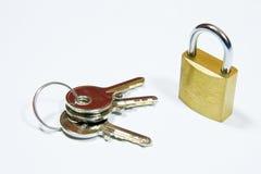 Kłódka i klucze Obrazy Royalty Free