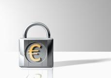 Kłódka Z Euro symbolem Obrazy Royalty Free