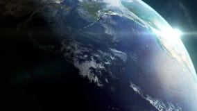4K ögla - planetjordrotation - 360 grader - dag till natten royaltyfri illustrationer