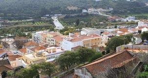 4K άποψη στεγών UltraHD σε Silves, Πορτογαλία απόθεμα βίντεο