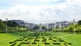 4K άποψη του Edward VII πάρκο στη Λισσαβώνα, Πορτογαλία - UHD φιλμ μικρού μήκους