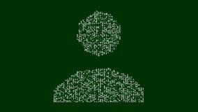4k ένας φουτουριστικός πίνακας κυκλωμάτων με την κίνηση των ηλεκτρονίων διαμόρφωσε το σύμβολο χρηστών απόθεμα βίντεο