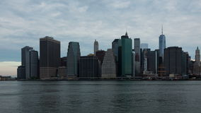 4k ανατολή timelapse του ορίζοντα του Μανχάταν στη Νέα Υόρκη - ΗΠΑ απόθεμα βίντεο