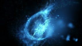 4K αφηρημένο μόριο υποβάθρου και να επιπλεύσει επίδρασης φωτισμού και ροή με το σκοτάδι και ενδιάμεσο με τον χρήστη σιταριού proc ελεύθερη απεικόνιση δικαιώματος
