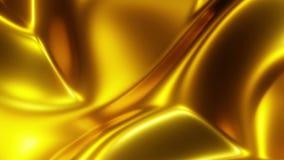 4K βρόχος της περίληψης που κινεί το χρυσό κυματιστό υπόβαθρο απόθεμα βίντεο