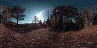 4K 360 εικονική πραγματικότητα VR μιας όμορφης σκηνής βουνών στο χρόνο φθινοπώρου Άγρια ρωσικά βουνά απόθεμα βίντεο