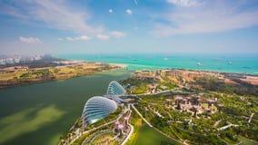 4k εναέρια άποψη Timelapse των κήπων από τον κόλπο στη Σιγκαπούρη φιλμ μικρού μήκους