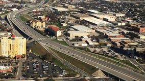 4K εναέρια άποψη UltraHD της κυκλοφορίας του San Antonio απόθεμα βίντεο