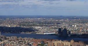 4K εναέρια άποψη UltraHD του της περιφέρειας του κέντρου ορίζοντα της Νέας Υόρκης απόθεμα βίντεο