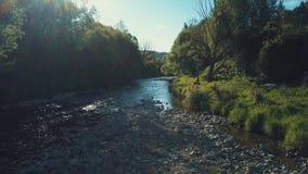 4k εναέρια κάμψη ποταμών στο θερμό ήλιο