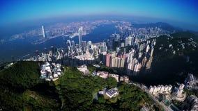 4K εναέριος πυροβολισμός του Χονγκ Κονγκ της Κίνας