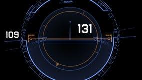 4k επίδειξη οθόνης τεχνολογίας σημάτων ΠΣΤ ραντάρ, ναυσιπλοΐα υπολογιστών στοιχείων της sci-Fi επιστήμης απεικόνιση αποθεμάτων