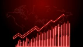 4k επιχειρησιακή αύξηση και ζωτικότητα Infographics βελών επιτυχίας ενός κόκκινου νέου επιχειρησιακού infographics διανυσματική απεικόνιση