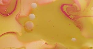 4K ζωηρόχρωμο ακρυλικό χρώμα απόθεμα βίντεο