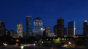 4K ημέρα UltraHD στη νύχτα timelapse του κέντρου πόλεων του Χιούστον απόθεμα βίντεο