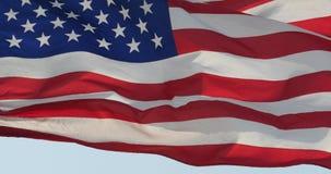 4k η αμερικανική σημαία κυματίζει στον αέρα φιλμ μικρού μήκους