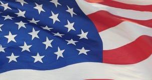 4k η αμερικανική σημαία κυματίζει στον αέρα απόθεμα βίντεο
