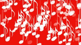 4k η μουσική σημειώνει το υπόβαθρο, υγιής, ρομαντική καλλιτεχνική συμφωνία μελωδίας μελωδίας συμβόλων ελεύθερη απεικόνιση δικαιώματος