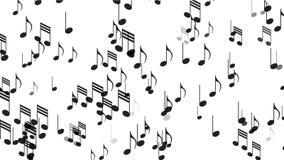 4k η μουσική σημειώνει το υπόβαθρο, υγιής, ρομαντική καλλιτεχνική συμφωνία μελωδίας μελωδίας συμβόλων απεικόνιση αποθεμάτων