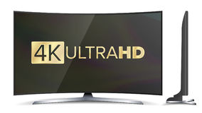 4k διανυσματική οθόνη TV Σημάδι UHD Υπερβολικό HD σχήμα ψηφίσματος TV απεικόνιση Στοκ εικόνες με δικαίωμα ελεύθερης χρήσης