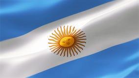 4k ιδιαίτερα λεπτομερούς σημαία της Αργεντινής ελεύθερη απεικόνιση δικαιώματος