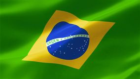4k ιδιαίτερα λεπτομερούς σημαία της Βραζιλίας ελεύθερη απεικόνιση δικαιώματος