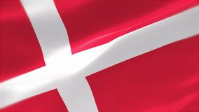 4k ιδιαίτερα λεπτομερούς σημαία της Δανίας ελεύθερη απεικόνιση δικαιώματος