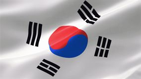 4k ιδιαίτερα λεπτομερούς σημαία της Νότιας Κορέας ελεύθερη απεικόνιση δικαιώματος