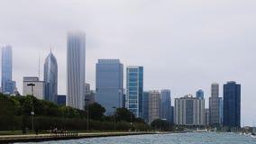 4K κέντρο πόλεων UltraHD Timelapse Σικάγο στην υδρονέφωση φιλμ μικρού μήκους
