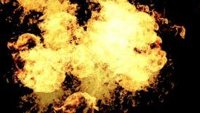 4k καυτό καίγοντας υπόβαθρο πυρκαγιάς, ενέργεια δύναμης καπνού μορίων έκρηξης πυροτεχνημάτων απόθεμα βίντεο