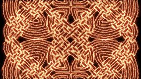 4k κελτικός βρόχος υποβάθρου Mandala πυρκαγιάς