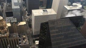 4K κεραία UltraHD του κέντρου πόλεων του Χιούστον φιλμ μικρού μήκους