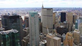 4K κεραία UltraHD Timelapse του της περιφέρειας του κέντρου Μανχάταν στην περιοχή της Νέας Υόρκης απόθεμα βίντεο