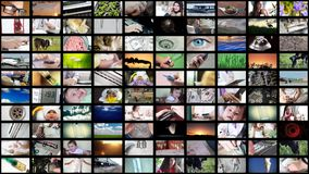 8K κολάζ UltraHD του διαφορετικού βίντεο φιλμ μικρού μήκους