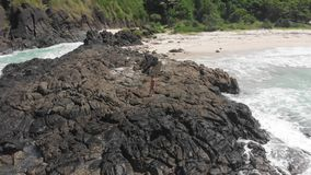 4K μήκος σε πόδηα Ινδονησία Lombok κηφήνων απόθεμα βίντεο