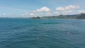 4K μήκος σε πόδηα Ινδονησία Lombok κηφήνων φιλμ μικρού μήκους