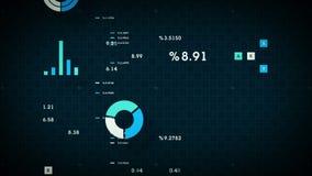 4K να τυλίξει επιχειρησιακών στοιχείων μπλε διανυσματική απεικόνιση