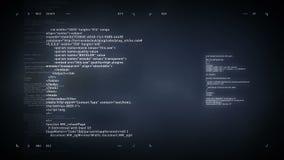 4K να τυλίξει κώδικα υπολογιστών ασήμι απόθεμα βίντεο