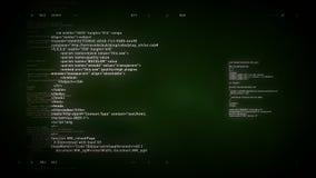 4K να τυλίξει κώδικα υπολογιστών πράσινο απόθεμα βίντεο