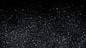 4k ο γαλακτώδης ουρανός αστεριών γαλαξιών τρόπων, χιόνι σκόνης, σκόνη ρύπανσης πυροτεχνημάτων μορίων απεικόνιση αποθεμάτων