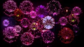 4K πολλαπλάσια πυροτεχνήματα Όμορφα ζωηρόχρωμα μεγάλα firecrakers τρισδιάστατη ζωτικότητα, διαφορετικές εκδόσεις 20 φιλμ μικρού μήκους