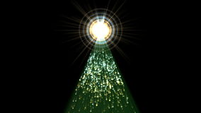 4k σήραγγα φωτοστεφάνου μορίων, πυροτεχνήματα ακτίνας λέιζερ ακτίνων πυραμίδων, ενεργειακό υπόβαθρο ελεύθερη απεικόνιση δικαιώματος