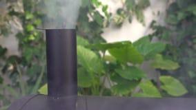 4K σχάρα καπνοδόχων που εκπέμπει τον άσπρο καπνό Μαύρος καπνιστής κοιλωμάτων σχαρών BBQ φιλμ μικρού μήκους