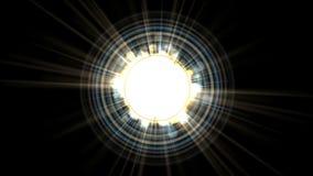 4k τα πυροτεχνήματα λέιζερ ακτίνων ανοίγουν τη διαστημική, μαγική ακτινοβολία, μόριο ενεργειακής έκρηξης απεικόνιση αποθεμάτων